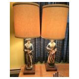 Vintage Pair Of  Dunning Inc Lamps