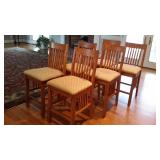 Set of 6 High-top/ Barstool Chairs