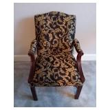 Black and Gold Patterned Armchair