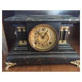 Victorian Adamantine Mantle Clock