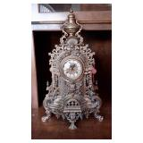 Ornate Imperial Brass Mantle  Clock