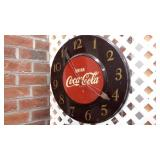 Vintage Metal Coca-Cola Wall Clock