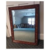 Beveled Mirror with Ornate Frame