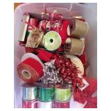 Christmas Themed Ribbons and Decorating Supplies