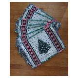 Set of 7 Christmas Tree Placemats