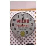 Vintage WILNO Products Wall Clock