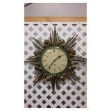 Art Deco Brass Wall Clock