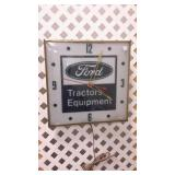 Vintage Ford Tractor Equipment Wall Clock