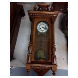 Antique Wood Carved Wall Clock