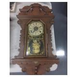 Ornate Wood Carved Wall Clock