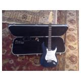 Green Electric Guitar & Case
