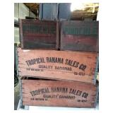 Vintage Wooden Produce Boxes