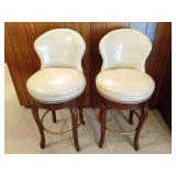 Pair of Patent Leather Bar Stools