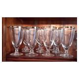 Set of 10 Crystal Water/Tea Glasses