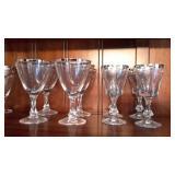 8 Crystal Wine Glasses