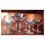 Crystal Wine, Champagne & Martini Glasses