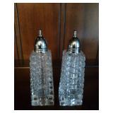 Set of Crystal Salt & Pepper Shakers