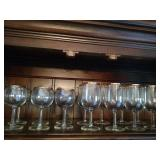 Crystal Stemware with Gold Trim
