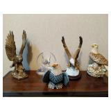 Collection of Bald Eagle Figurines