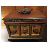 Carved Acorn Keepsake Box