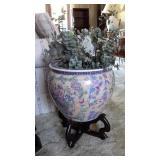 Large Painted Porcelain  Planter