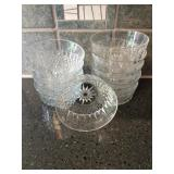 Set of 8 Arcoroc Glass Bowls