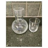 Cut Glass Nightstand Water Carafe