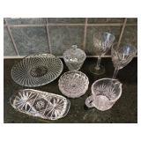 8 Piece Assortment of Cut Glassware