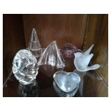 Assortment of Crystal and Glass Paperweights