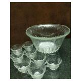 Punch Bowl & 20 Punch Glasses