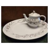 Pinecone Tea Pot & Platter