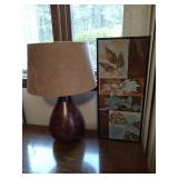 Table Lamp and Wall Decor