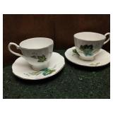 Pair of Vintage Taylor & Kent Elizabethan Tea Cups