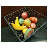 11 Piece Set of Marble Fruit