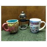 French Press & Eclectic Mugs