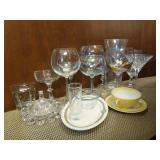 Assortment of Misc. Cocktail Glasses & More