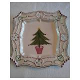 Hand painted Holiday Platter