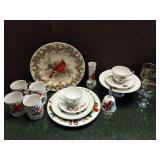 Christmas Cardinals China Collection