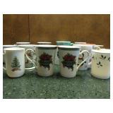 Assorted Festive China Mugs
