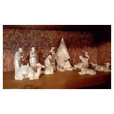 Handcrafted Glazed Porcelain Nativity Set