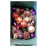 Collection of Glass Christmas Ornaments