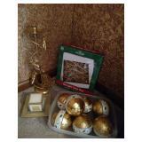 Gold tone Christmas Decor