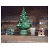 "Ceramic Christmas Tree 8""H With Peg Lights and"