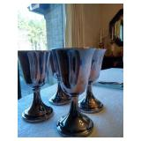 Silver Plates Goblets