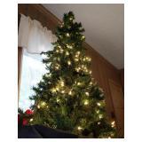 7ft Pre-lit Christmas Tree & Bag