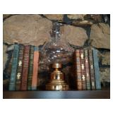 Hurricane Lamp and BookEnds