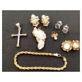 Gold tone and Crystal Jewelry