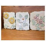 Floral Ceramic Wall Plaques