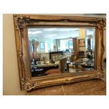 Beveled Mirror in Gilded Frame