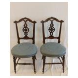 Pair of Vintage Upholstered Side Chairs